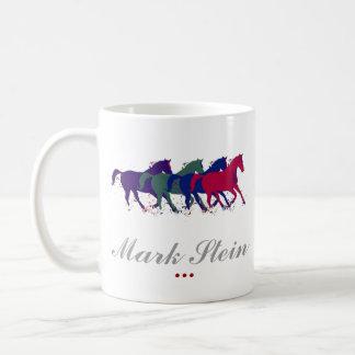 farm horses personalized coffee mug