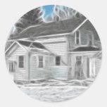 Farm House 1 Enhanced Oil Stickers