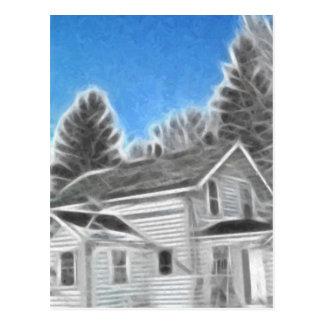 Farm House 2 Enhanced Oil Postcard