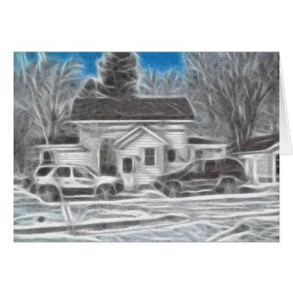 Farm House 3 Enhanced Oil Greeting Card