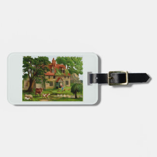Farm House And Country Garden Luggage Tag