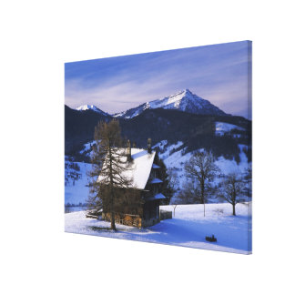 Farm house and Mount Rigi and Pilatus, Canvas Print