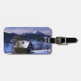 Farm house and Mount Rigi and Pilatus, Travel Bag Tag