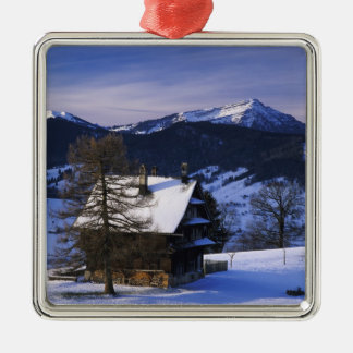 Farm house and Mount Rigi and Pilatus, Metal Ornament