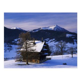 Farm house and Mount Rigi and Pilatus, Postcard