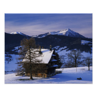 Farm house and Mount Rigi and Pilatus, Poster