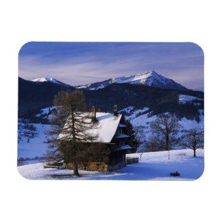 Farm house and Mount Rigi and Pilatus, Rectangular Photo Magnet