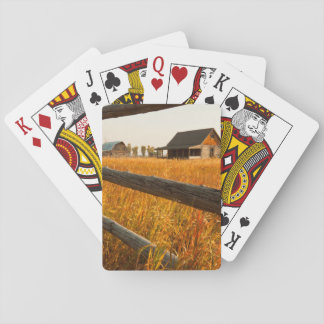 Farm House And Rail Fence In Grand Teton Poker Cards