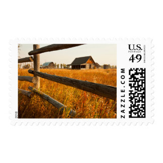 Farm House And Rail Fence In Grand Teton Postage