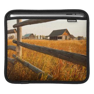 Farm House And Rail Fence In Grand Teton Sleeve For iPads