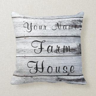 Farm House Barn Wood Pillow