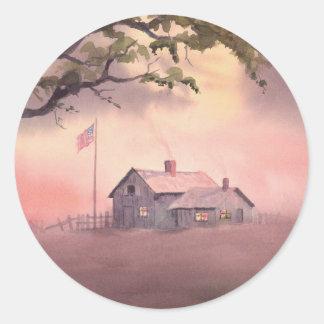 FARM HOUSE by SHARON SHARPE Classic Round Sticker