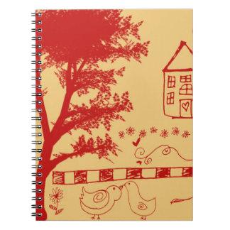 Farm House Doodle Notebook