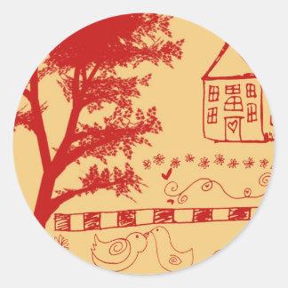 Farm House Doodle Sticker