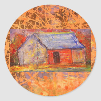 farm house drip classic round sticker