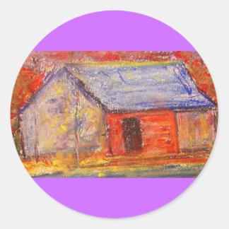 farm house classic round sticker
