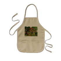 Farm House With Chickens Kids' Apron