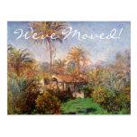 Farm in Bordighera by Monet, Change of Address Postcard