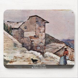 Farm In The Hills By Fattori Giovanni Mouse Pad