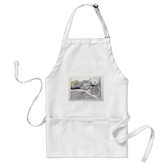 Farm in Vermont by Piliero Adult Apron