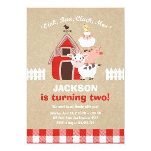 Country birthday invitations zazzle farm invitations birthday old mcdonald country filmwisefo