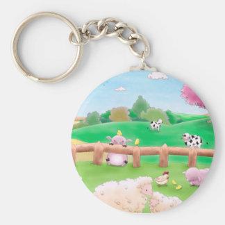 Farm Key Ring Keychain