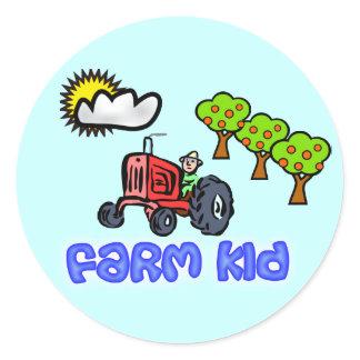 Farm Kid Stickers - Farmer on Tractor