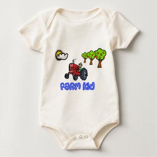 Farm Kid Tractor Baby Bodysuit