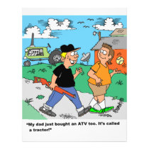 Farm Kids ATV /Tractor Cartoon Flyer