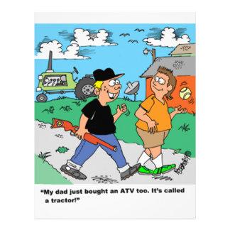 Farm Kids ATV /Tractor Cartoon Letterhead