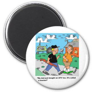 Farm Kids ATV /Tractor Cartoon Magnet