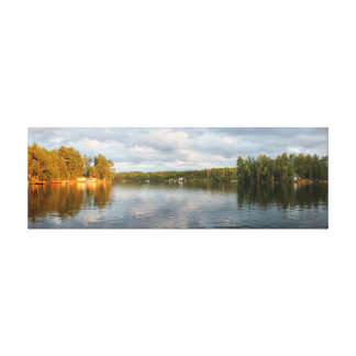 Farm Lake, Quebec, Canada Stretched Canvas Print