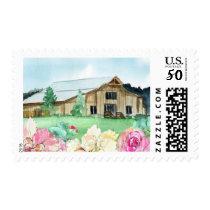 Farm Landscape Wedding Stamp