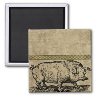 Farm Life 2 Inch Square Magnet