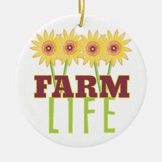 Farm Life Ceramic Ornament