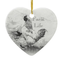 Farm Life Ceramic Ornament