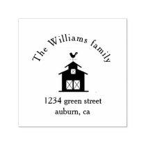 Farm Life family Return Address Rubber Stamp
