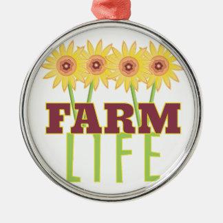 Farm Life Metal Ornament