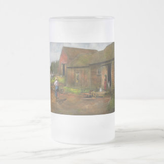 Farm - Life on the farm 1940s Frosted Glass Beer Mug