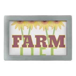 Farm Life Rectangular Belt Buckle