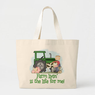 Farm Livin' (Boy) Large Tote Bag