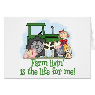 Farm Livin' (Girl) Card