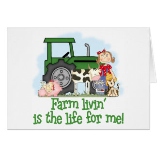 Farm Livin' (Girl) Card