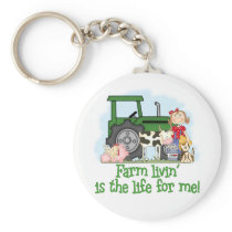 Farm Livin' (Girl) Keychain