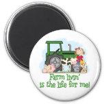 Farm Livin' (Girl) Refrigerator Magnet