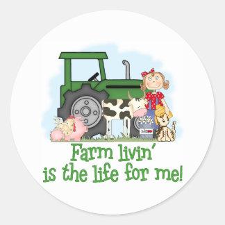 Farm Livin' (Girl) Stickers