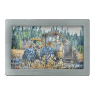 Farm Machinery, Tractor, Back-Hoe, Farm Vehicle Rectangular Belt Buckles