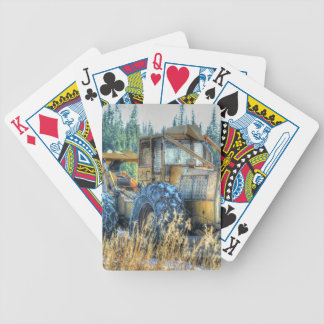 Farm Machinery, Tractor, Back-Hoe, Farm Vehicle Bicycle Playing Cards