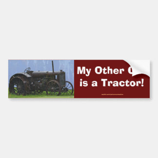 Farm Machinery, Tractor, Back-Hoe, Farm Vehicle Bumper Sticker
