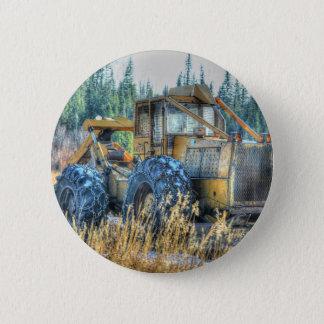 Farm Machinery, Tractor, Back-Hoe, Farm Vehicle Button